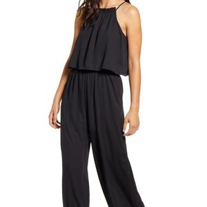 NEW GIBSON Popover Wide Leg Jumpsuit